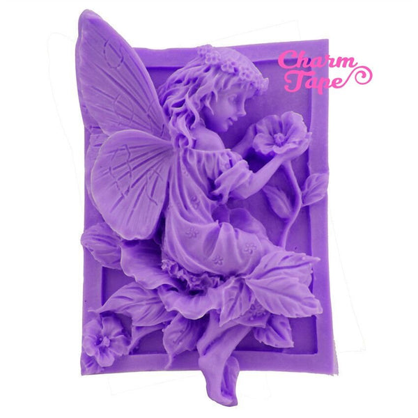 Flower Fairy Food Graded Silicon silicone mold for uv resin /cake/ fondant / soap making flexible mold H2345