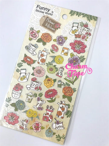 Flowers sticker art stickers -1 Sheets by Funny ss331