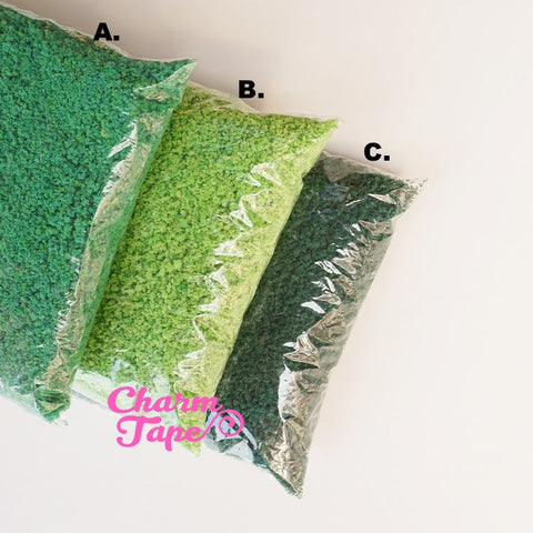 Artificial Fake Grass for Phone case decoden - 20 grams Tiny Faux Miniature Dollhouse lawn DC003