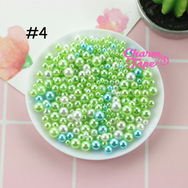 Pearls with No Hole | Round Unicorn Pearl | Magical Pearls in Various Sizes (2.5-5mm) 10 grams