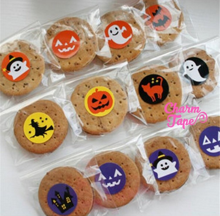 "120ct Halloween 1.18"" Round Sticker For Gift Packing Packaging 10 Sheets GS012"