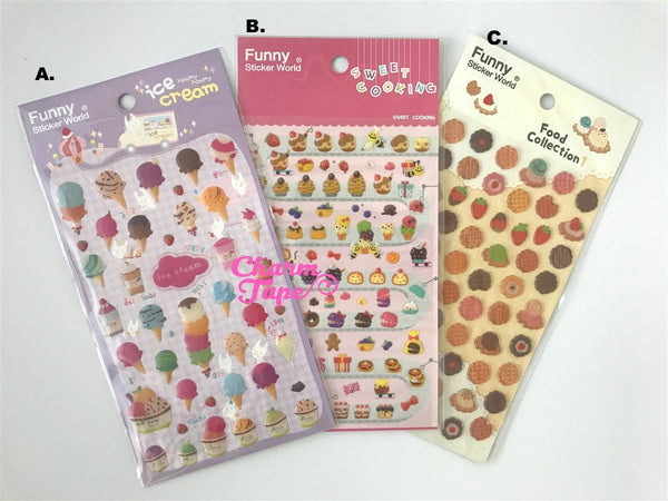 Ice-cream Gel sticker deco stickers by Funny SS281