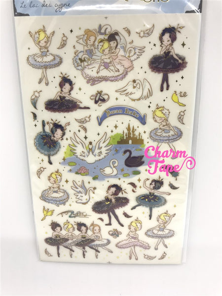Swan Lake Ballet Gold Foil Stickers 1 Sheets SS330f