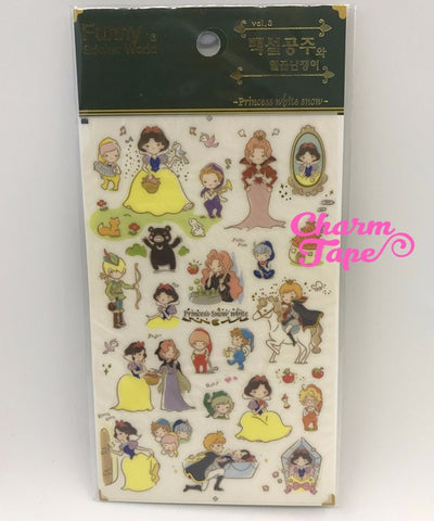 Snow White Scrapbook Gold Foil Sticker by Funny ss330c