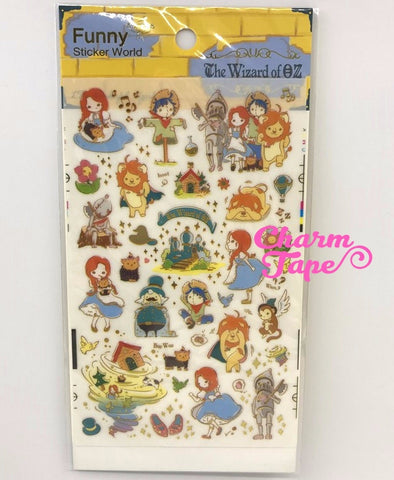 The Wizard of Oz Scrapbook Gold Foil Sticker by Funny ss330b