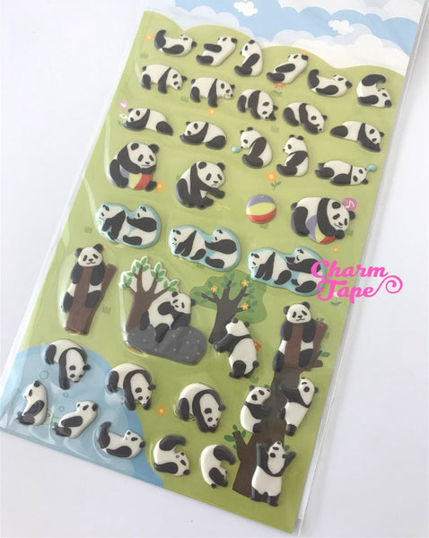 Dancing Panda PUFFY Deco sticker by Funny Korea SS280