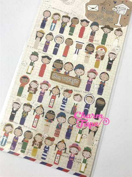 National Costume Dress Sticker 1 Sheet Funny  SS530