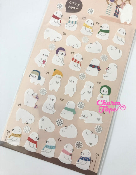 Polar Bear vinyl Sticker by Funny Korea SS511