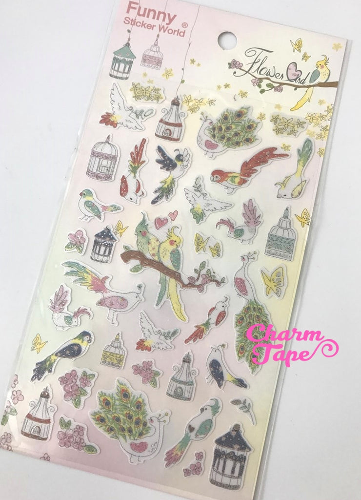 Love Birds fabric Sticker by Funny Korea ss533