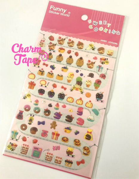 Pudding & Cake Gel Stickers Set by funny SS608