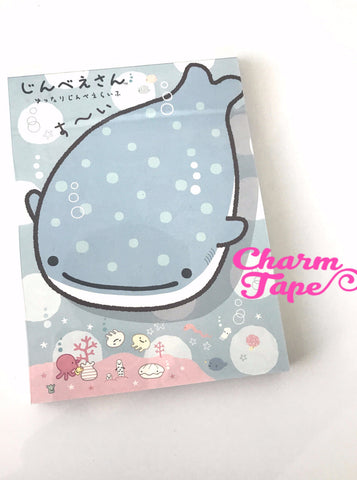 Jinbesan Whale shark Big Memo Pad by San-x from Japan