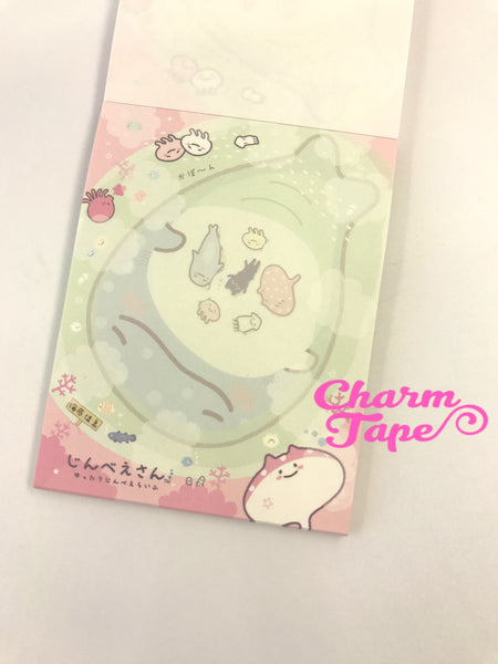 Jinbesan whale shark mini Memo Pad by San-x from Japan