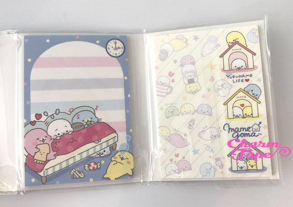 Mamegoma Mini Memo Pad with  Erasers by San-x from Japan