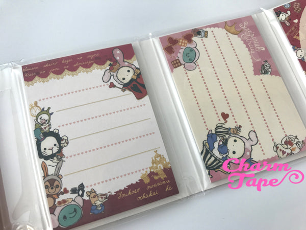Sentimental Circus Mini Memo Pad with Heart Erasers by San-x from Japan