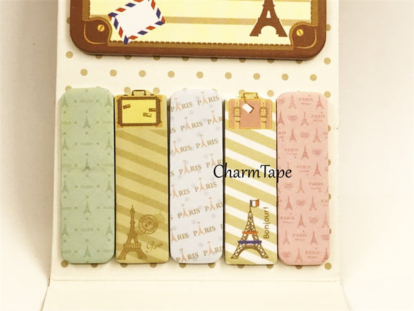 Bon voyage Eiffel Tower - Sticky Post-It Memo Note Pad 120 sheets aa742