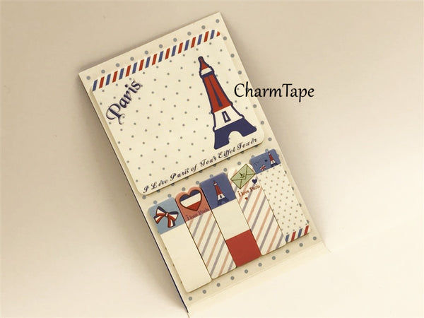 Blue Eiffel Tower Sticky Post-It Memo Note Pad 120 sheets AA743