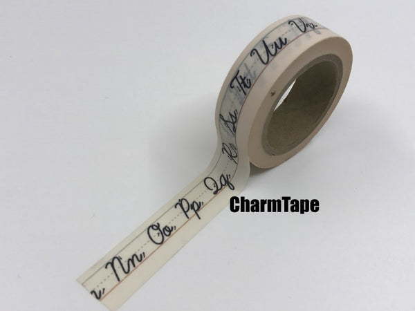 Alphabet Letters Washi tape 15mm x 10 m WT912
