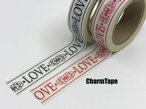 Love Motif Washi Tape 15mm x 10m WT445 - CharmTape - 1