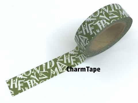 Alphabet Letters Washi tape 15mm x 10 m WT964 - CharmTape - 1