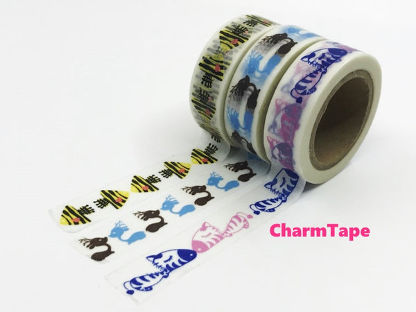 Mirror design Washi Masking Tape 1.5cm x 10 meters WT504 - CharmTape - 2