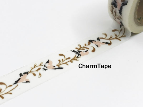 Washi Tape Bird and Branch - Chinese Traditional Style 15mm x 10m WT969 - CharmTape - 1