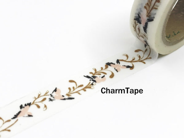 Washi Tape Bird and Branch - Chinese Traditional Style 15mm x 10m WT969 - CharmTape - 2