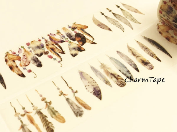Tribal Feathers Big Washi Tape 30mm x 5 meters WT921