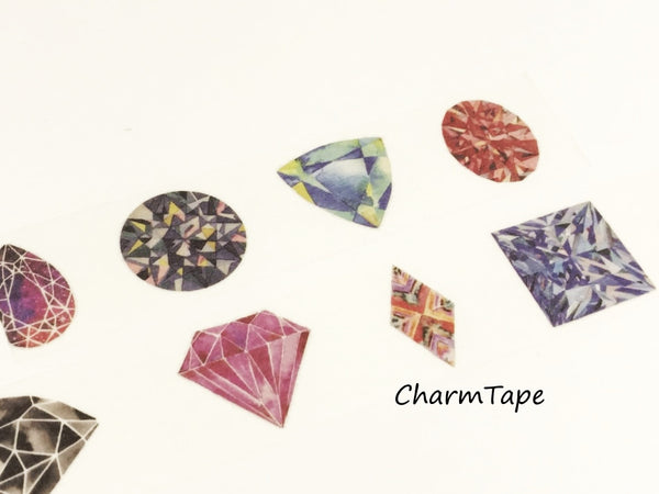 Colorful Diamond & Gemstone Big Washi Tape (30mm x 5 meters) WT926