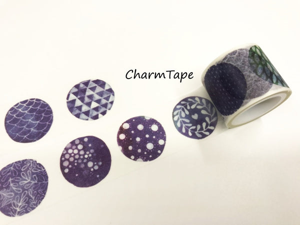 Round Illustration Big Washi Tape (30mm x 5 meters) WT928