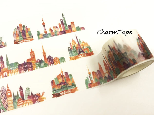 Colorful City Big Washi Tape (30mm x 5 meters) WT931