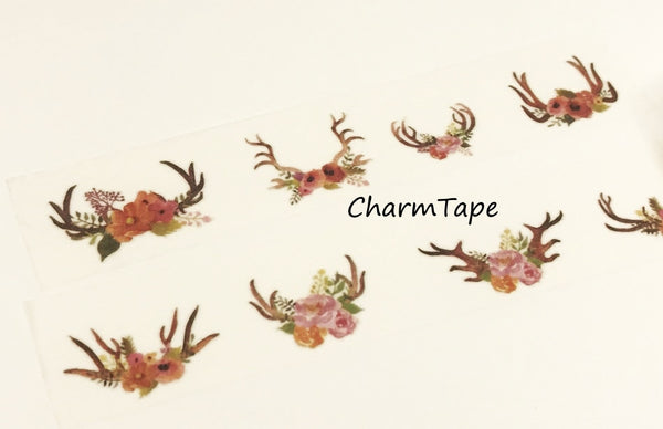 Floral Antler Big Washi Tape(30mm x 5m) WT932