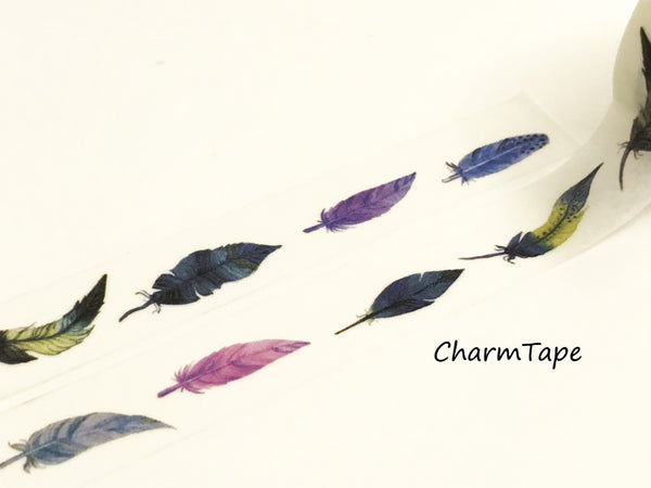 Colorful Feathers Washi tape 15mm x 10m WT943