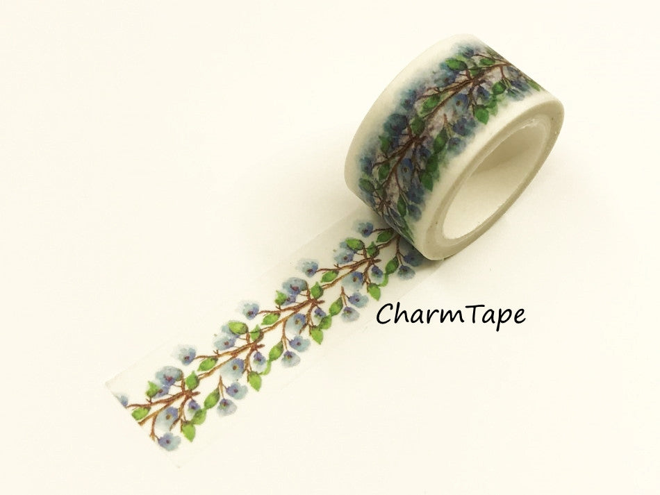 Bluebells flower Washi Tape Roll (20mm x 5m) WT949