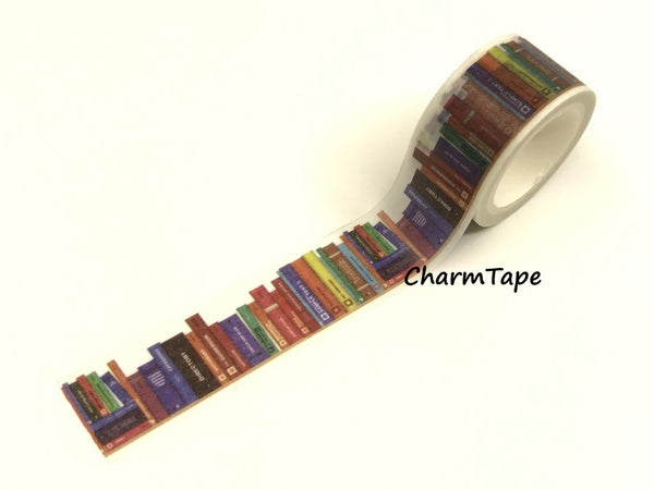 Library Books Washi Tape Roll (20mm x 5m) WT950 - CharmTape - 2