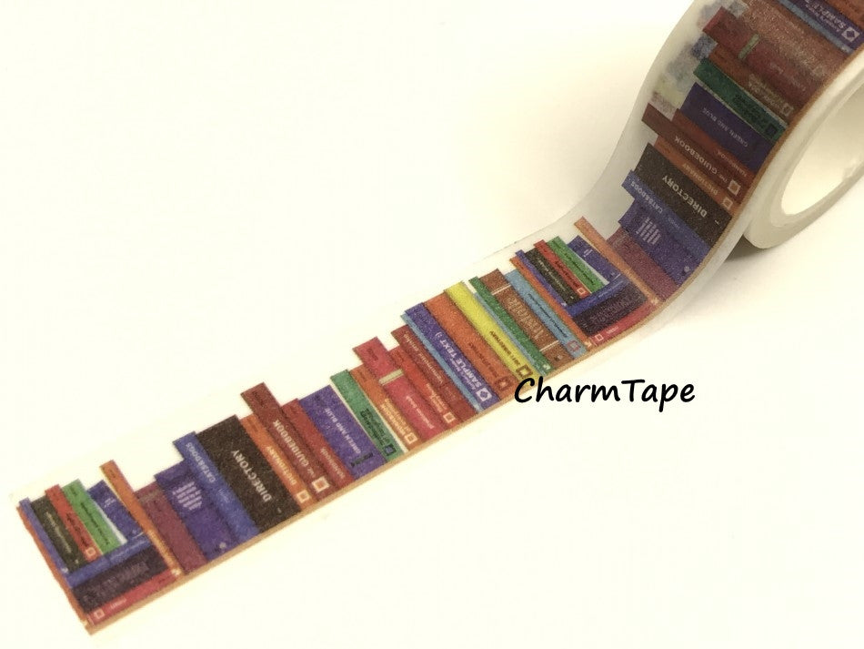 Library Books Washi Tape Roll (20mm x 5m) WT950 - CharmTape - 1