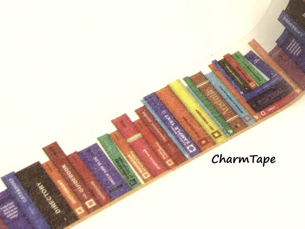 Library Books Washi Tape Roll (20mm x 5m) WT950 - CharmTape - 3
