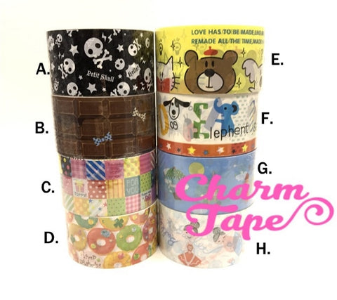 Deco Tape Stickers - Chocolate bars / skull / cat / ballet dancer Jumbo Size DTB152