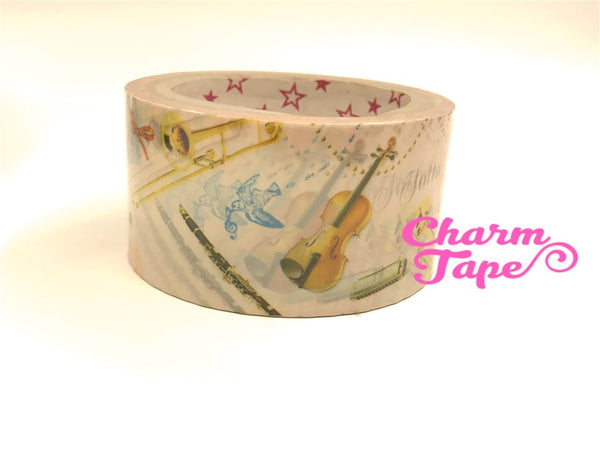 Deco Duct Tape adhesive Stickers - musical / holiday/ paris/ French size 25 meters DTB166