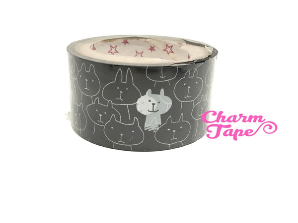 Deco Duct Tape adhesive Stickers - check / cat / bunny / mountain Jumbo size 25 meters DTB170