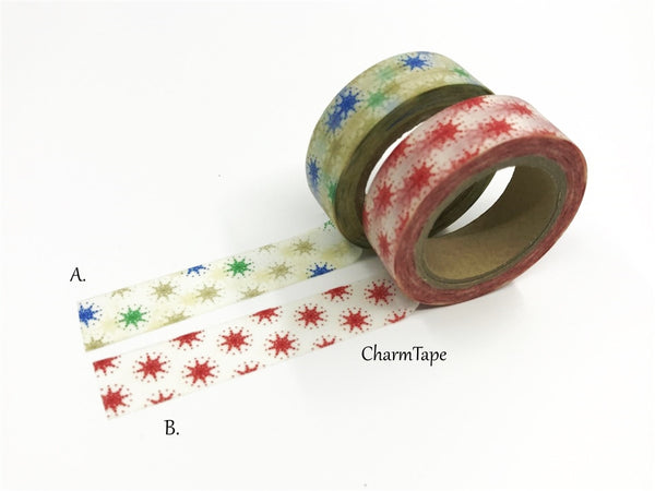 Stars Washi tape 15mm x 10m WT514 - CharmTape - 4