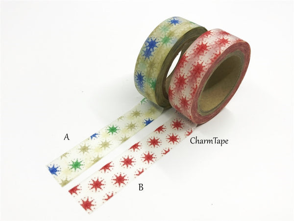Stars Washi tape 15mm x 10m WT514 - CharmTape - 1