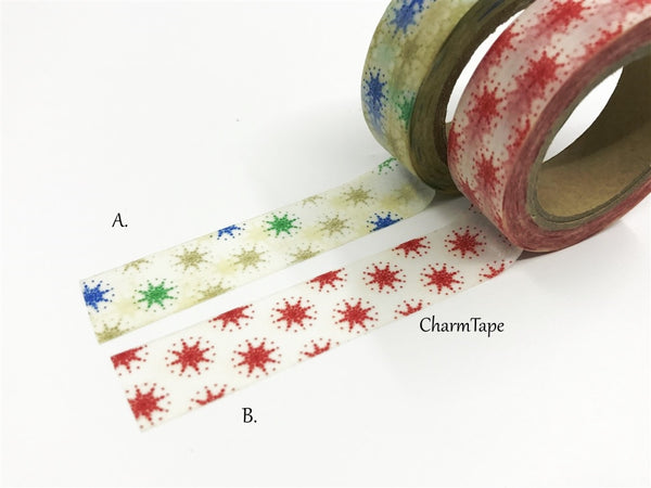 Stars Washi tape 15mm x 10m WT514 - CharmTape - 5