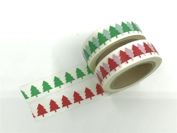 Washi tape - Green & Red Tree WT515 - CharmTape - 2