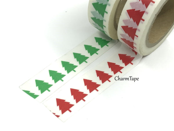 Washi tape - Green & Red Tree WT515 - CharmTape - 3