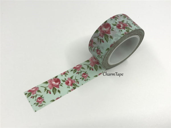 Cottage Chic vintage rose Washi Tape 20mm x 5m WT905 - CharmTape - 2