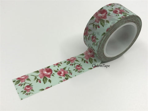 Cottage Chic vintage rose Washi Tape 20mm x 5m WT905 - CharmTape - 1