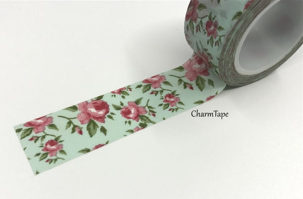 Cottage Chic vintage rose Washi Tape 20mm x 5m WT905 - CharmTape - 3