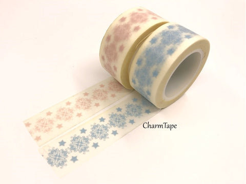 Festive Snowflake Washi Tape Big 20mm x 10m WT351 - CharmTape - 1