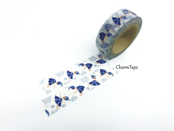Festive Snow Angel - Washi Tape 15mm x 10 meters WT833 - CharmTape - 2