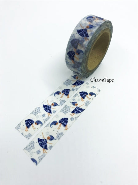 Festive Snow Angel - Washi Tape 15mm x 10 meters WT833 - CharmTape - 3